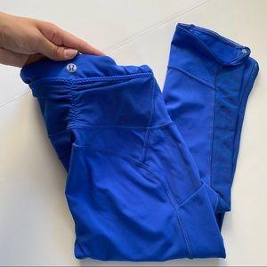 Lululemon Blue Capri Leggings